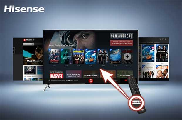hisense wuaki 1 26 04 16 - Hisense Smart TV 2016 con tasto Wuaki.tv sul telecomando