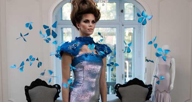 """intel butterfly dress evi 13 04 16 - Intel Butterfly Dress: abito di alta moda """"smart"""""""