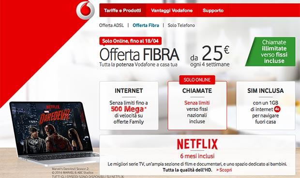 vodafone 500mbps 18 04 2015 - Vodafone: fibra fino a 500Mbps a Torino, Milano e Bologna