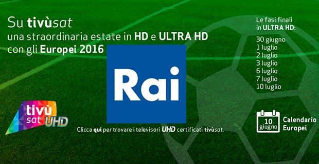 rai 4k 20 06 2016 - Rai 4K in onda sul canale 210 di tivùsat