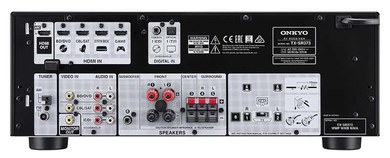 """onkyo tx sr373 2 19 01 17 - Onkyo TX-SR373: sinto-ampli 5.1 """"entry"""" con HDMI 4K e HDR"""