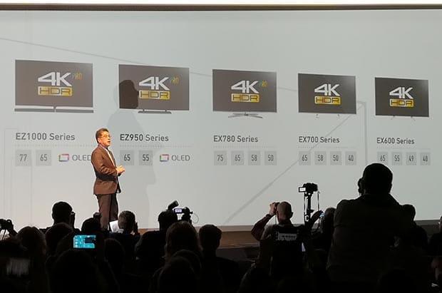 "15 02 2017 panasonic OLED EZ950 - Panasonic EZ950: TV OLED Ultra HD con HDR da 55"" e 65"""