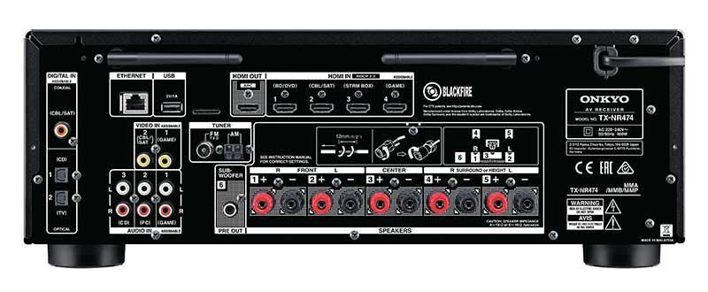 Onkyo TX NR474 3 22 02 17 - Onkyo TX-NR474: sinto-ampli 5.1 con Atmos e DTS:X