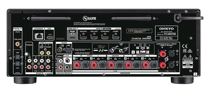 Onkyo TX NR575 3 22 02 17 - Onkyo TX-NR575E: sinto-ampli 7.2 con Atmos, DTS:X e Dolby Vision
