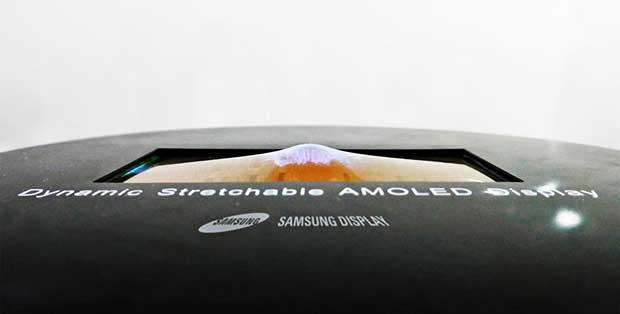 "stretchable oled 1 25 05 17 - Samsung: OLED flessibile ""gonfiabile"" da 9,1 pollici"
