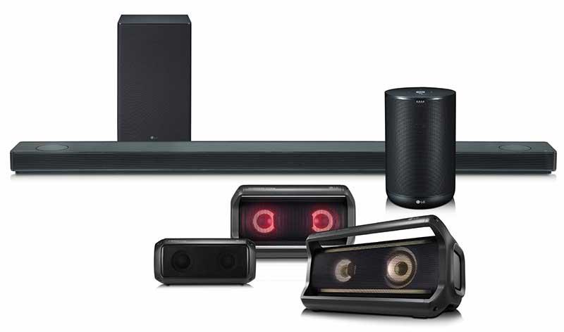 LG Speaker Lineup 2018 28 12 17 - LG SK10Y: soundbar Dolby Atmos con MQA e Google Assistant