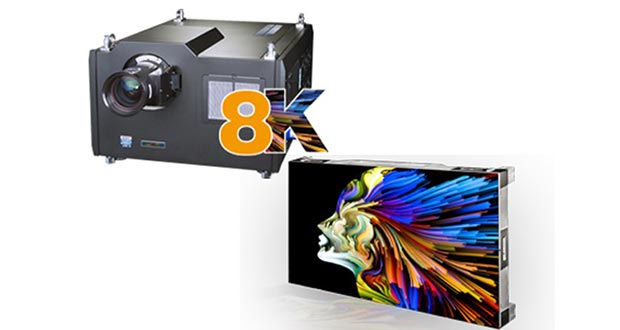 Digital Projection ISE 2018 - Digital Projection: video wall micro-LED e proiettore 8K a ISE