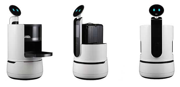 "lg CLOi robot 1 04 01 18 - LG CLOi: nuovi Robot ""camerieri"" presentati al CES 2018"