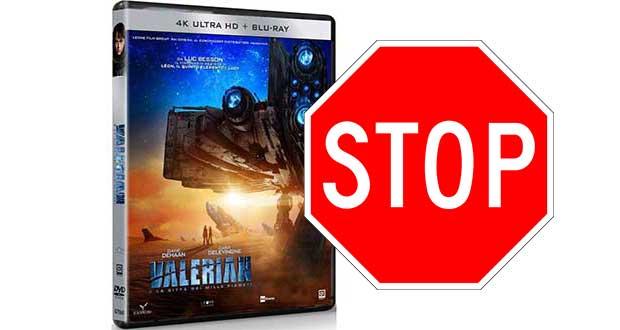 valerian 4k ritirato evi 08 01 18 - Valerian UHD Blu-ray senza HDR ritirato ufficialmente dal mercato