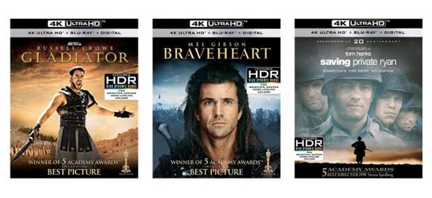paramount dolbyvision 1 07 03 18 - Gladiatore, Braveheart e Soldato Ryan in 4K con Dolby Vision