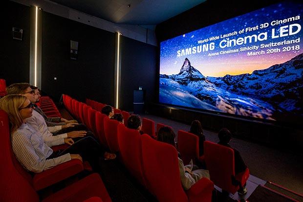 samsung 3d cinema led 2 - Samsung 3D Cinema LED: prima sala in Svizzera