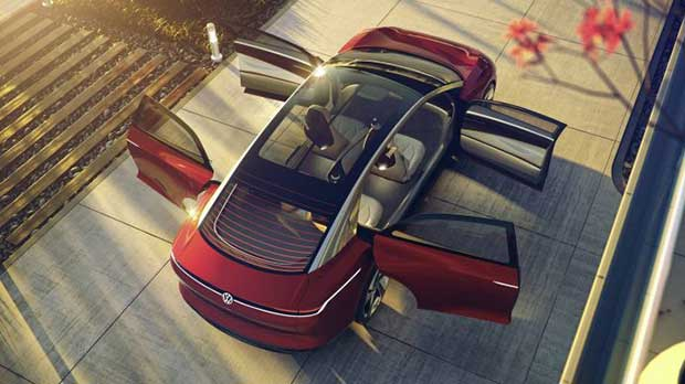 vw vizzion 3 07 03 18 - Volkswagen Vizzion: auto 100% autonoma ed elettrica entro il 2025
