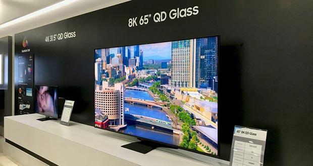 samsung quantum dot on glass - Samsung: display 8K Quantum Dot On Glass