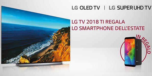 lg promo - LG: smartphone Q7 in regalo a chi acquista una TV