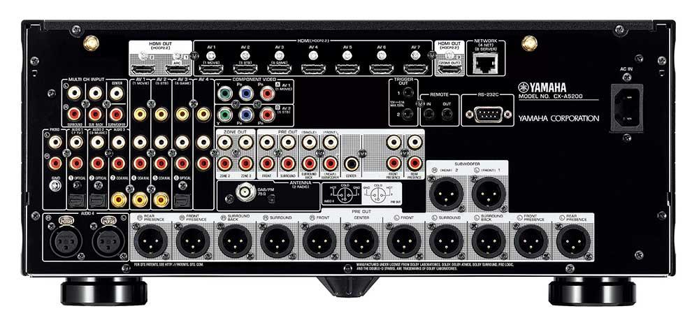 yamaha CXA5200 2 27 08 18 - Yamaha CX-A5200 e MX-A5200: pre-processore e finale AV 11.2 canali