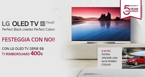 lg promo oled e8 - LG rimborsa 400 Euro con l'acquisto di un OLED E8