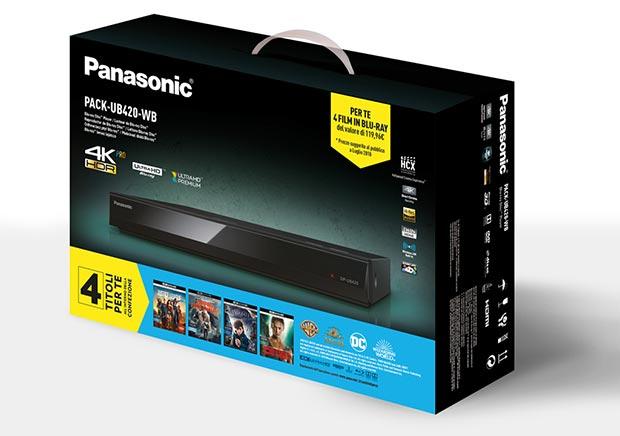 panasonic ub420 promo - Panasonic: film in regalo con i lettori UHD Blu-ray UB420 e UB820