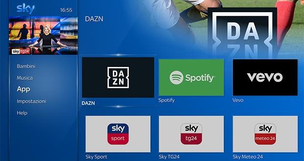 sky q dazn evi - Sky Q: arrivano DAZN, Spotify e i comandi vocali