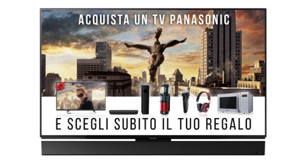 panasonic promo - Promozione Panasonic: vari prodotti in omaggio con l'acquisto di una TV
