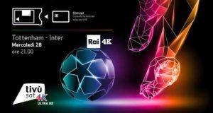 rai 4k champions 300x160 - Rai 4K: la Champions League debutta in 4K con Tottenham - Inter