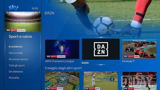 sky dazn 1 02 09 19 - DAZN dal 20 settembre anche su Sky: gratis per alcuni abbonati