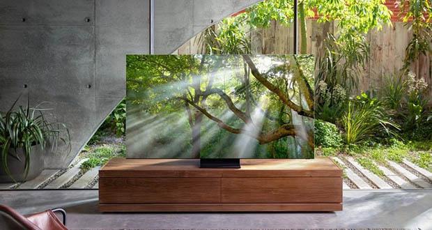 """samsung q950ts evi 07 01 20 - Samsung Q950TS: TV 8K QLED """"senza cornici"""" e con codec AV1"""